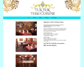 Tuk Tuk Thai Cuisine Website