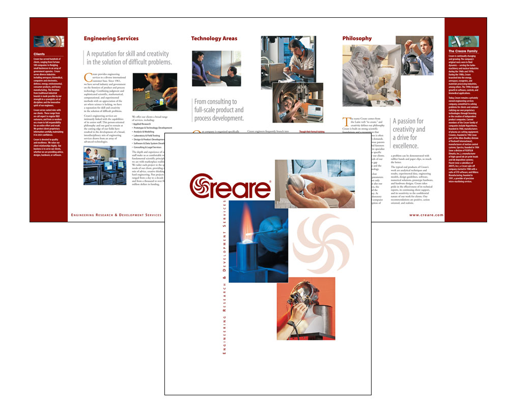 Creare Corporate Brochure