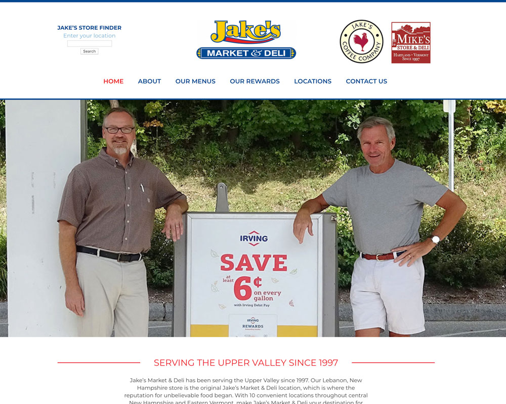 Jake's Market & Deli Website